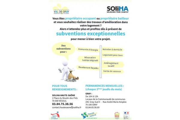 SOLIHA Subventions exceptionnelles2020
